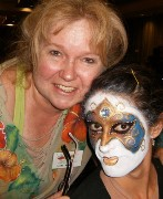Face Painter Painting in Claremont, California